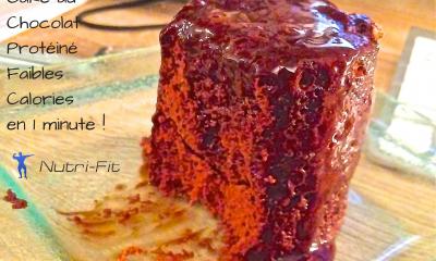 Cake au ChocolatProtéiné Faibles En Calories