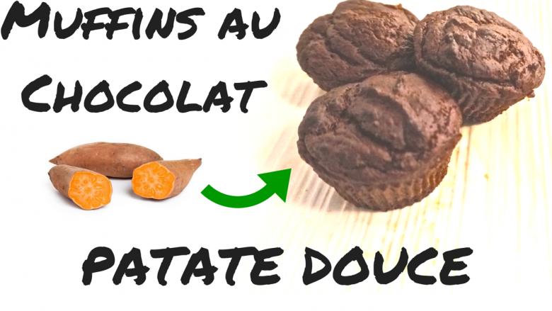 Muffins au Chocolat Patate Douce