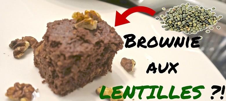 Brownie aux LENTILLES